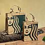將將星正貨 ㊣星巴克 NEW SIREN小禮袋提袋 新經典女神logo 水洗牛皮紙 簡約 環保 Starbucks