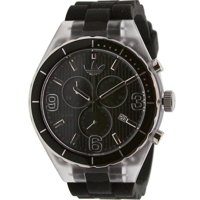 現貨 超取免運【adidas - ADH 2528】全新正品 多功能 運動型 三眼錶 名錶 手錶 / 黑色