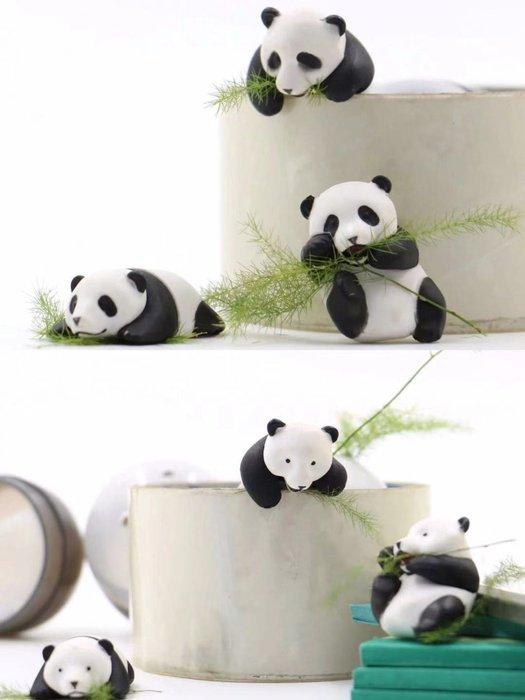 【阿忿貓的模型動漫周邊】Q版 3款 熊貓 扭蛋滾滾 小眼睛 大眼睛 大熊貓 玩具 扭蛋盒 公仔