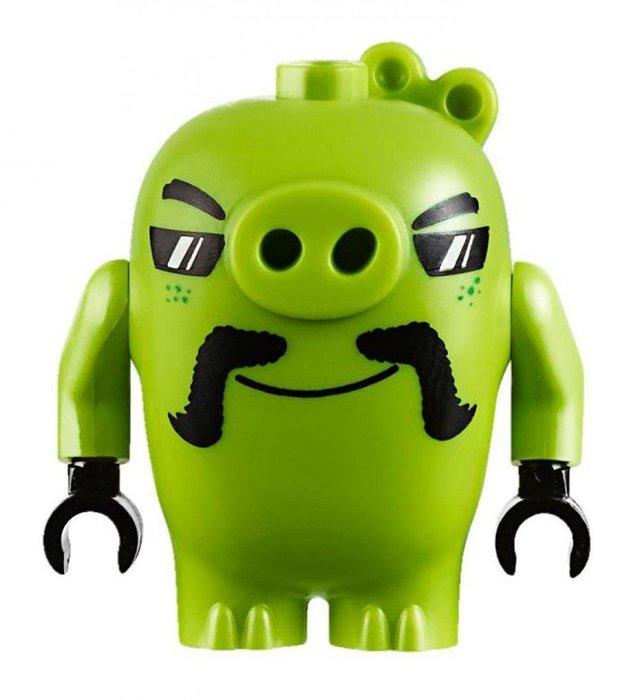 【LEGO 樂高】全新正品 益智玩具 積木/ Angry Birds 憤怒鳥玩電影 75823 單一人偶: 鬍子豬豬