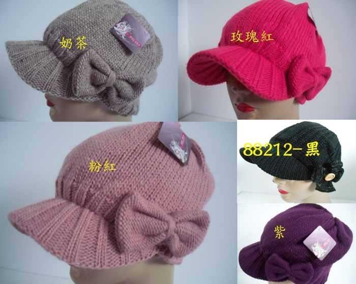 //阿寄帽舖// #9503 大蝴蝶  雙層毛線貝蕾帽 .阿哥哥帽!!