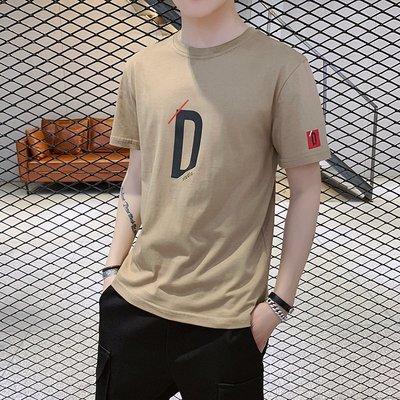 時尚男裝男士夏季短袖t恤男裝純棉修身圓領半袖薄體恤韓版上衣休閑男T恤潮