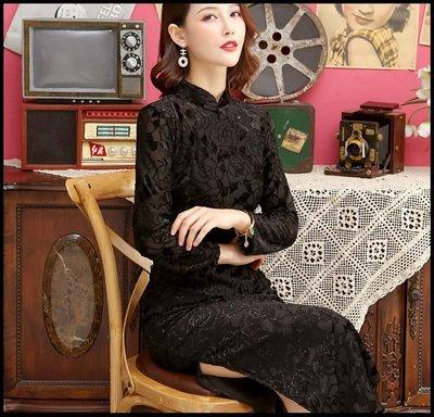 【Fashion歐洲站】國潮年輕款旗袍新式七分袖日常老上海蕾絲少女旗袍禮服裝