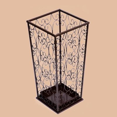 現貨/歐式鐵藝酒店大堂家用放雨傘架方形創意辦公室雨傘桶放傘桶傘架子22SP5RL/ 最低促銷價