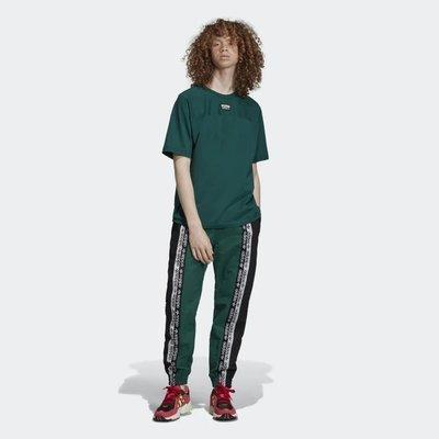 =E.P=ADIDAS R.Y.V. TRACKSUIT BOTTOMS 黑綠色 運動長褲 復古 男版 ED7164