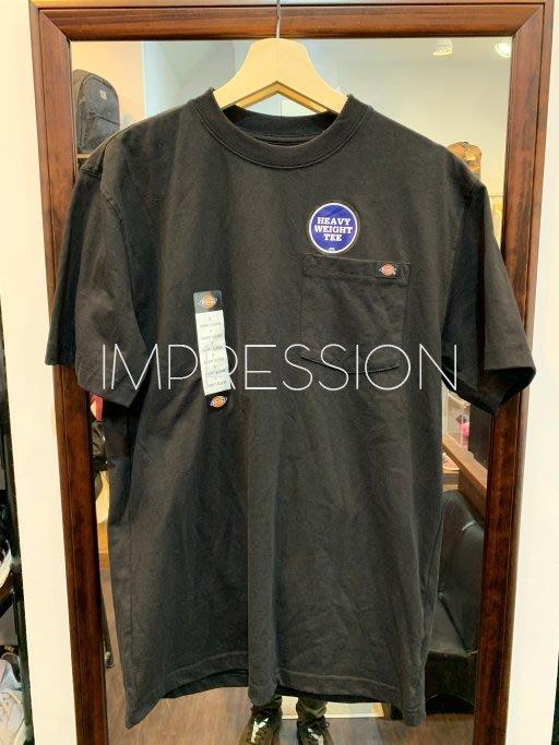 【IMPRESSION】Dickies WS450BK LOGO Tee BK 黑色 口袋 短T 基本款 素面 美版