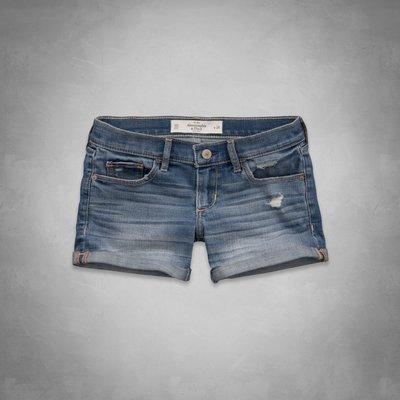 A&F 女 麋鹿 淺色 刷白 牛仔短褲 尺寸24 / 25 全新 現貨