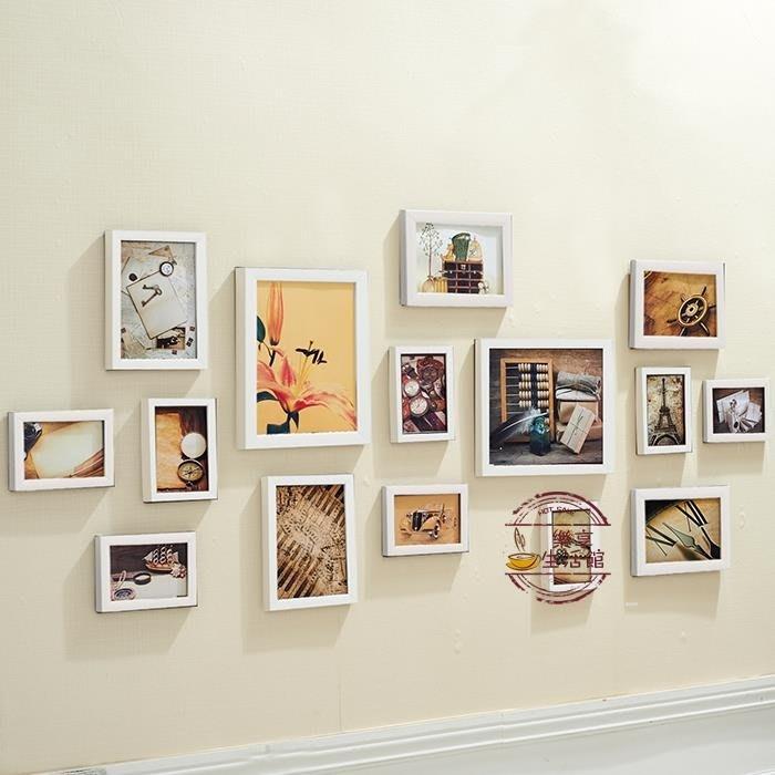 景宇 客廳懸掛15框照片墻相框  獨品飾品吧☂