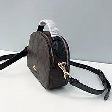 【八妹精品】COACH 1591 Serena 女士經典C紋logo圓餅包 手提包 單肩斜跨包 女包