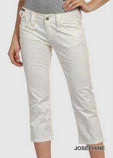 喬瑟芬【D&G~DOLCE&GABBANA】奶白色棉質中低腰七分牛仔褲~特價$8800