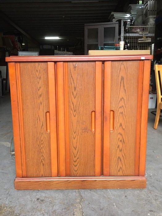 二手家具全省估價(大台北冠均 五股店)二手貨中心--簡約優質經典木製鞋櫃  置物櫃 收納櫃 玄關櫃 SH-070795