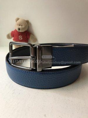 【Sunny Buy精品館】◎現貨出清◎Coach 64079 專櫃款 藍色+深藍 雙面皮革 長度可自裁 附購證