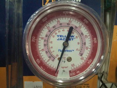 R410 冷媒高壓錶 工作壓力800PSI YELLOW JACKET 美國進口 高壓表