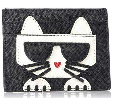 預購 美國帶回 正版授權 Karl Lagerfeld 卡爾老佛爺 超可愛貓咪 信用卡夾 卡夾 皮夾