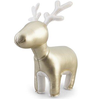 Zuny 麋鹿造型紙鎮 Miyo金色限定版! 生日禮物桌上擺飾 動物造型皮革鎮紙,idea-dozen創意達人