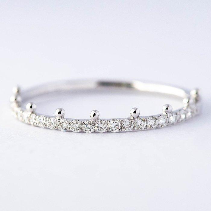 【JHT金宏總珠寶/GIA鑽石專賣】0.15克拉小鑽線戒 #10 /材質:18K(DR1537K)