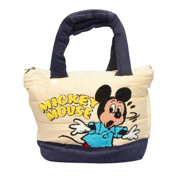 ♥ 小花日韓雜貨 ♥【Rootote】x Disney 聯名日本正品媽媽包空氣包羽絨包手提包逛街包米奇款