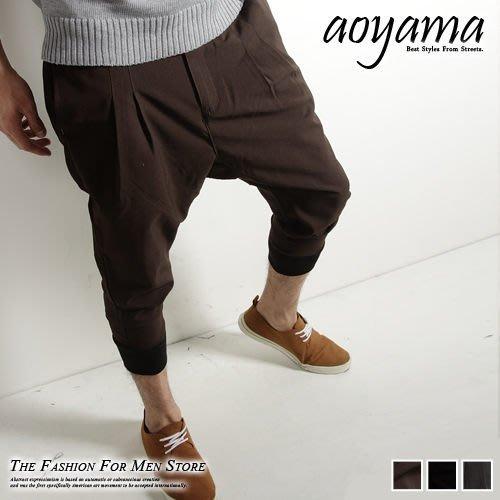 [青山~AOYAMA ] 韓版時尚風潮修身版型西裝布面打摺休閒長褲/飛鼠褲/工作褲【AR101】