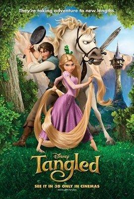 魔髮奇緣 (Tangled) - 迪士尼長髮公主 - 美國原版雙面電影海報 (2010年)