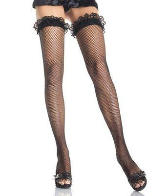 Leg Avenue黑色魚網絲襪