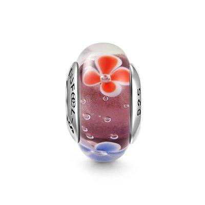 *現貨*SOUFEEL (PANDORA通用) 索菲爾 925 純銀 串珠  琉珠系列 慕拉諾琉璃珠 春的氣息
