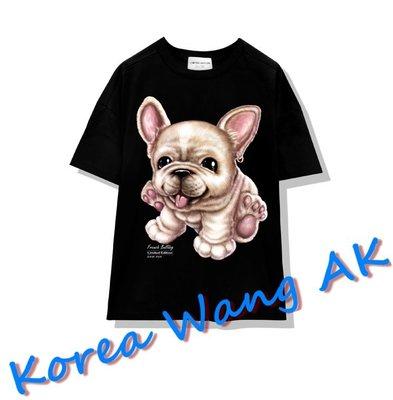 Korea Wang AK ~(預購)台灣原創獨家設計 美國100%純棉 限定版 法國鬥牛犬寬T  三款【P050】