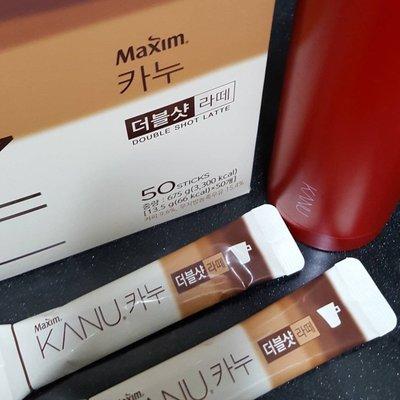 現貨!現貨!孔劉韓國Maxim KANU 60入雙倍拿鐵! !買kanu咖啡3盒以上送Maxim質感隨身杯瓶(依內文)
