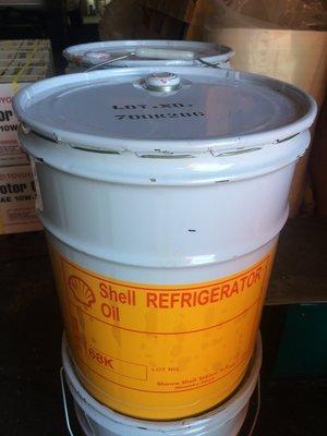 【殼牌Shell】Refrigerator oil、K 68、低溫用高級冷凍機油、20公升/桶裝【日本原裝】