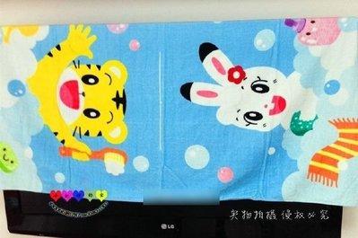 HM嬰幼館【Q590】 巧虎迷必備正版琪琪浴巾純棉兒童浴巾寶貝洗澡巾可裁開套頭