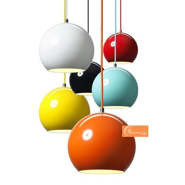 【LUNA LIGHT 月之燈坊】北歐簡約彩色馬卡龍圓球吊燈(P-526),另有LOFT工業吊燈設計師的燈