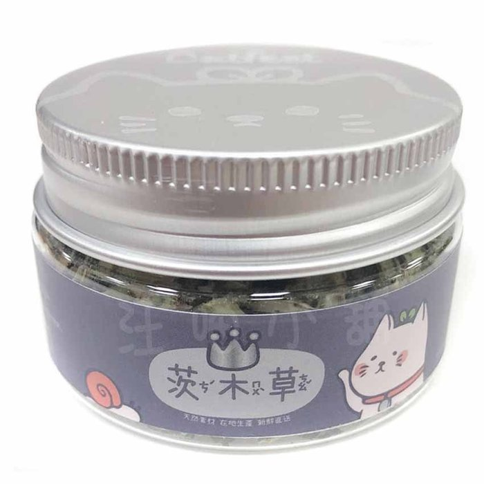 ☆汪喵小舖2店☆ 茨木草貓用貓草銀罐25mL // 台灣生產製造