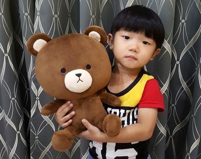 可愛的小熊大娃娃~大頭熊玩偶~高30公分~台灣製~TOM熊~熱門商品~情人禮物~