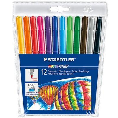 {阿治嬤} 德國 施德樓 STAEDTLER 快樂學園水易洗彩色筆12色組 MS325WP12