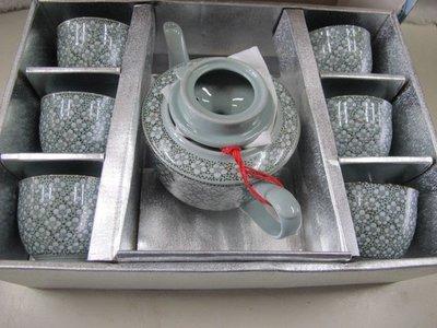 二手舖 NO.4443 金門陶瓷 瓷壺 瓷杯 瓷具 1壺6杯 全新