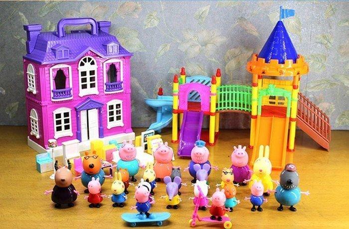 【溜。溜。選物】佩佩豬家家酒玩具套裝@別墅遊樂場