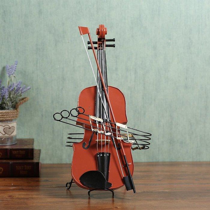 〖洋碼頭〗小提琴模型擺件道具 櫥窗樣板房服裝店裝飾品擺件藝術品 鐵藝模型 hbs105
