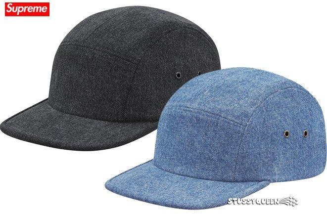【超搶手】全新正品 2015 春夏Supreme Denim Skate Logo Camp Cap 丹寧牛仔 五分割帽
