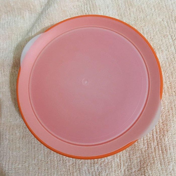 二手Cali Bowl 專利防漏灑學習餐碗(附上蓋) 12oz 橘色