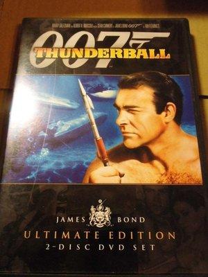 Thunderball 007霹靂彈 Sean Connery 史恩康納萊 2DVD