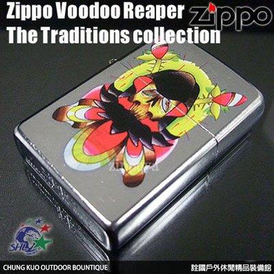 馬克斯 ZP078 Zippo 經典打火機 美系 紋身刺青 Voodoo Reaper #20910