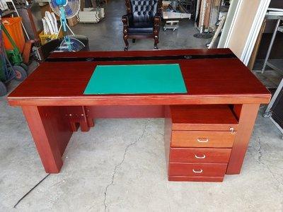 彰化二手貨中心(原線東路二手貨) ---  辦公室專用 主管桌+3抽活動櫃組 辦公桌