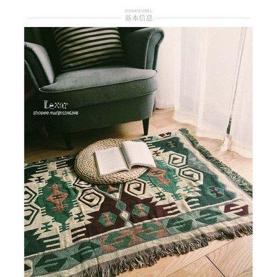古著美式歐式個性複古幾何客廳地毯塊毯圖...