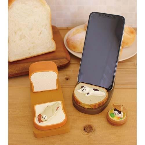 ◎Life Sense◎【DECOLE】concombre 麵包造型智慧型手機座 平板座 名片架 手機架 支架