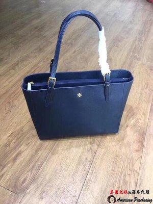 美國大媽代購 TORY BURCH 美國輕奢時尚 York新款 藍色大號托特包 手提包  美國代購