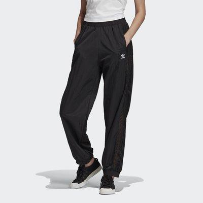 【Dr.Shoes 】Adidas Originals Cuffed 女款 蕾絲 黑色 縮口褲 寬褲 FM1759