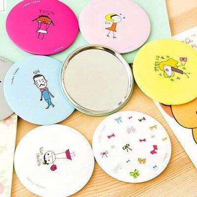 ⟪快速出貨⟫韓國迷你化妝鏡 婚禮小物 卡通可愛小鏡子 來店禮 贈品 補妝鏡 圓鏡 批發