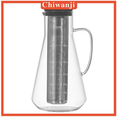 #現貨直出  1.6L Coffee Maker Pot Comfort Grip Handle Durable-MDI