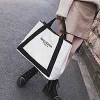 大包包2019歐美明星同款帆布包單肩包斜背包側背包大容量手提包