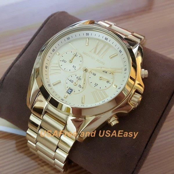 【USAFree】【Michael Kors】美國正品►代購 MK5605 粉絲熱門 氣派全金色MK錶