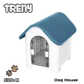 【TRENY直營】TRENY 塑膠狗屋-中款-藍 狗屋 狗籠 貓屋 寵物的家 通風 403-B